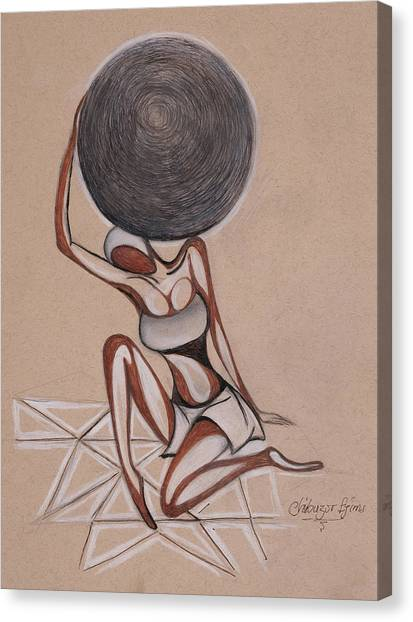 Strenght Of A Woman Canvas Print by Chibuzor Ejims