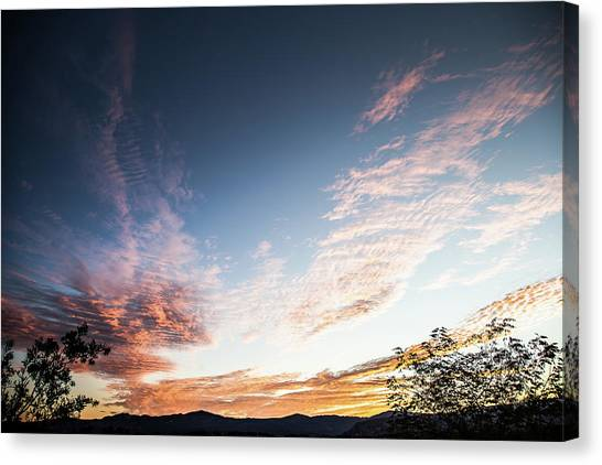 Striated Sunrise Canvas Print
