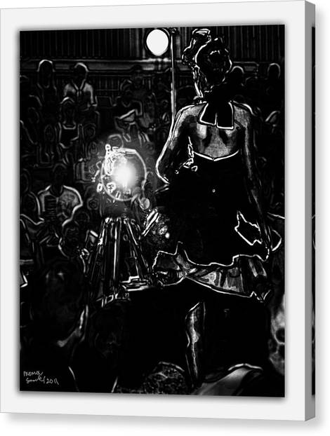 Strike Runway Pose Canvas Print by Monroe Snook