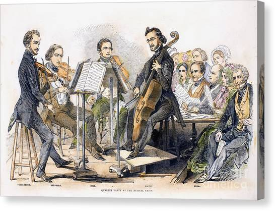 Music Stands Canvas Print - String Quartet, 1846 by Granger