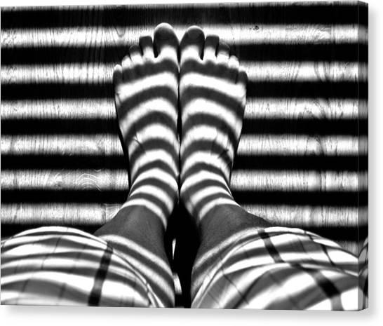 Stripe Socks? Canvas Print