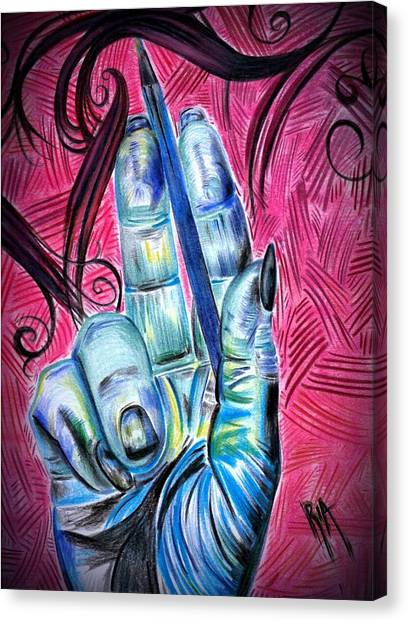 Hands Canvas Print - Strokes Of My Soul...  The Life Of An Artist by Artist RiA