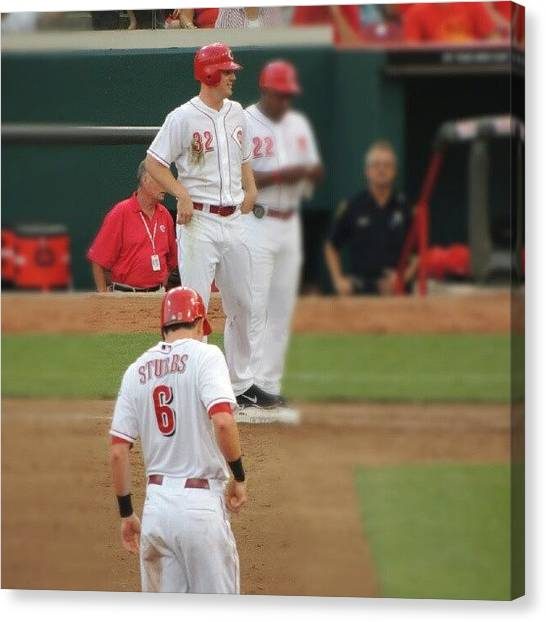 Baseball Teams Canvas Print - Stubbs And Bruce by Reds Pics