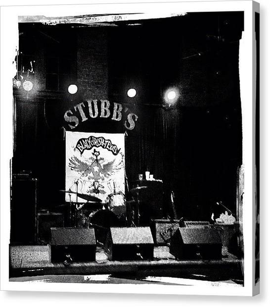 Austin Canvas Print - Stubb's Stage by Natasha Marco