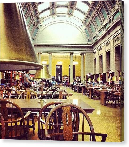 Harvard University Canvas Print - Studieren #harvard #widener_library by Khamid B