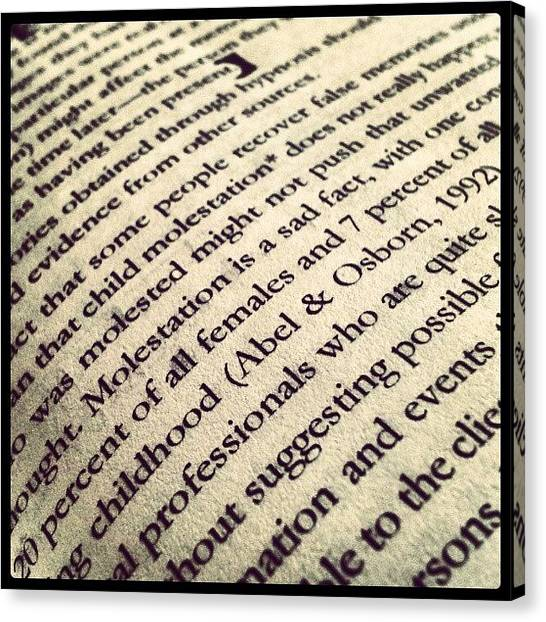 Psychology Canvas Print - #studies #jaihindcollege #books #page by Indraneel Banerjee