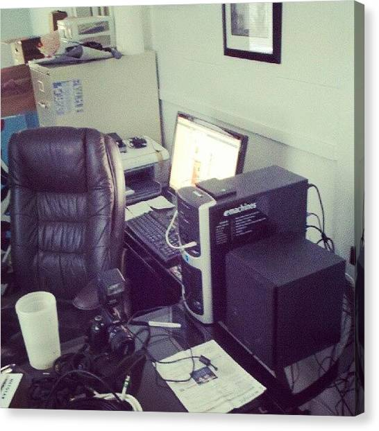 Magicians Canvas Print - Studio Is Almost Operational Again by Melissa Wyatt