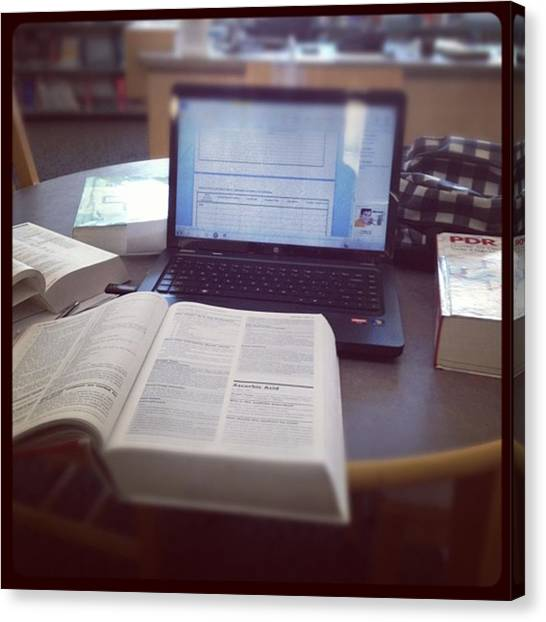 Medicine Canvas Print - #studying 😷 #nursing #library by Nena Alvarez