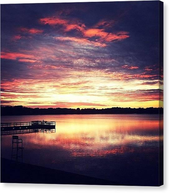 Minnesota Canvas Print - Stunning Sky Tonight! #sunset #lake by Jen Hernandez