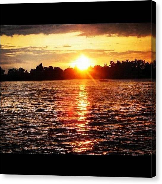 Beach Sunrises Canvas Print - Stunning Sunset by Jenny OHara