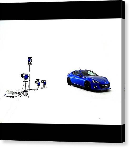 Toyota Canvas Print - Subaru Brz Sti #subaru #subarubrz #brz by Matthew Vasilescu