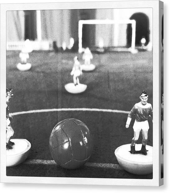 Soccer Canvas Print - Subbuteo Day by Ale Romiti 🇮🇹📷👣