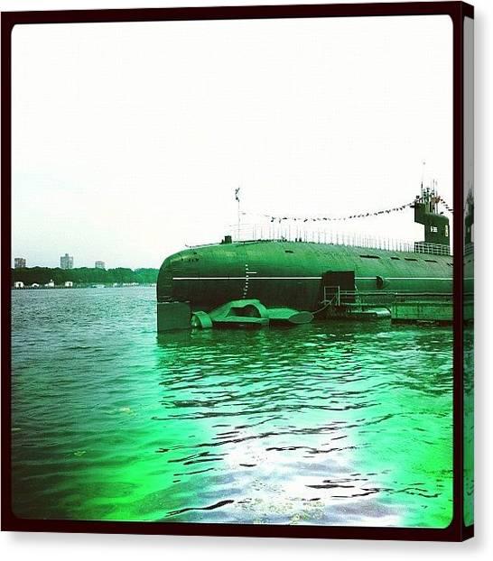 Submarine Canvas Print - #submarine #porusski #navy by Marianna Garmash