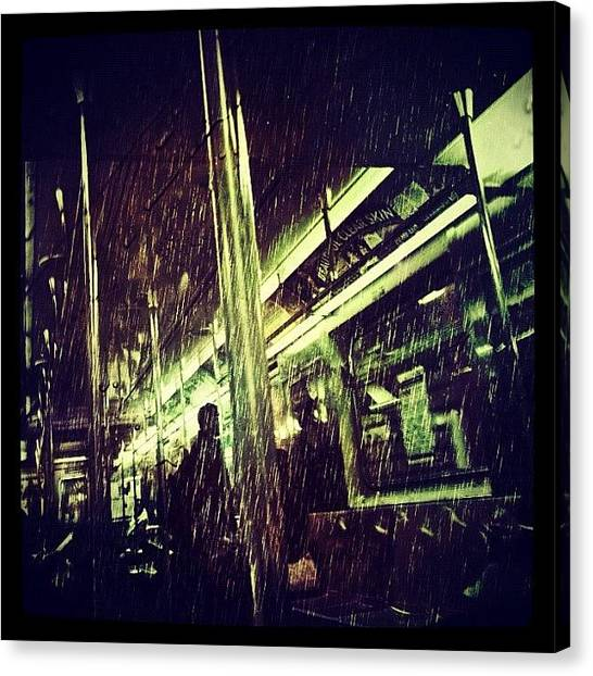 Rain Canvas Print - Subway Rain by Natasha Marco