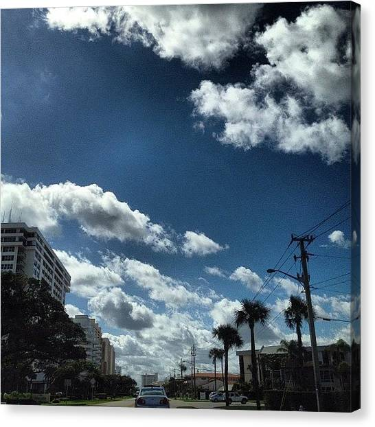 Driving Canvas Print - Such A Nice Day Out After Those Chilly by Emily W