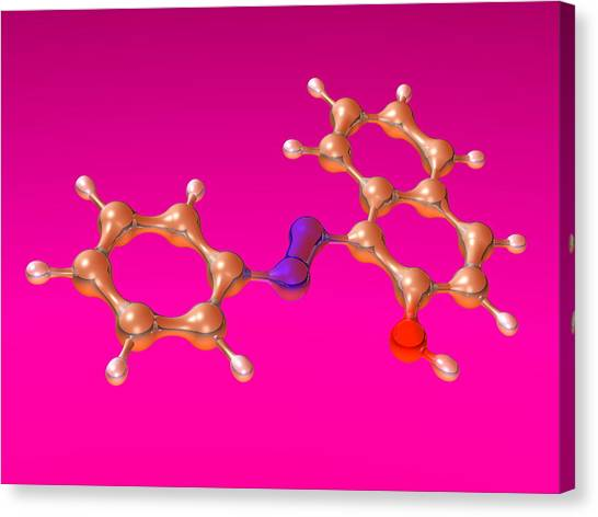Sudan 1 Molecule Canvas Print by Dr Mark J. Winter