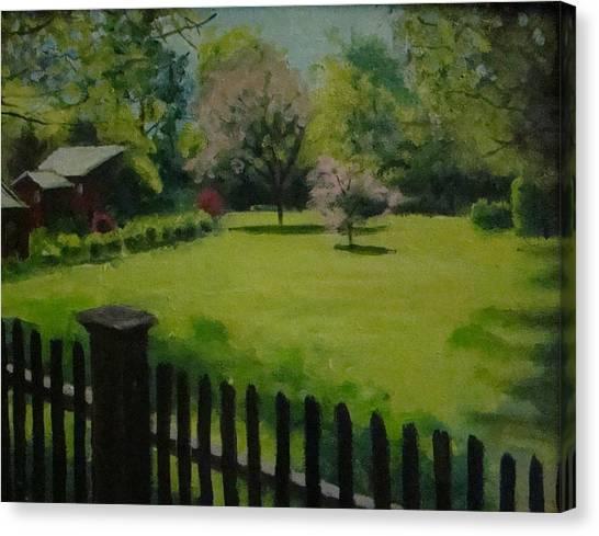 Sue's Yard Canvas Print by Mark Haley