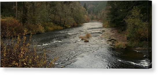 Suislaw River Panorama Canvas Print by Mary Gaines