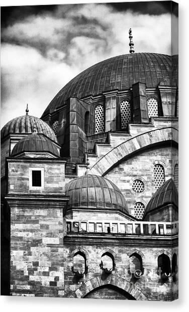 Suleymaniye Canvas Print - Suleymaniye Domes by John Rizzuto