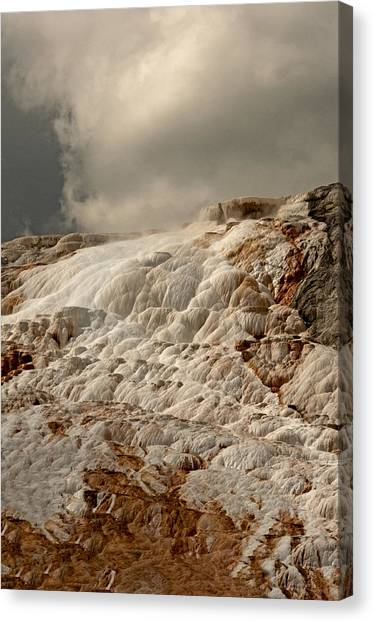Sulfur Waterfall Canvas Print by Eric  Nelson