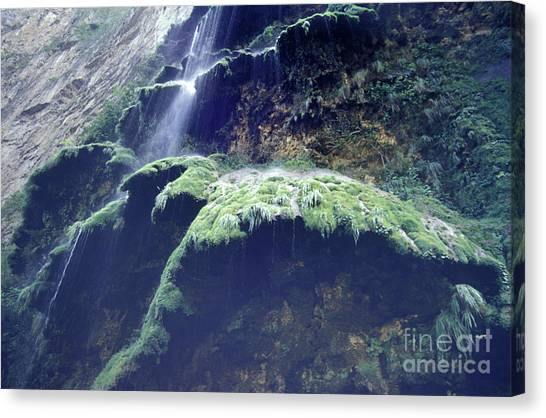 Sumidero Canyon Waterfall Chiapas Mexico Canvas Print