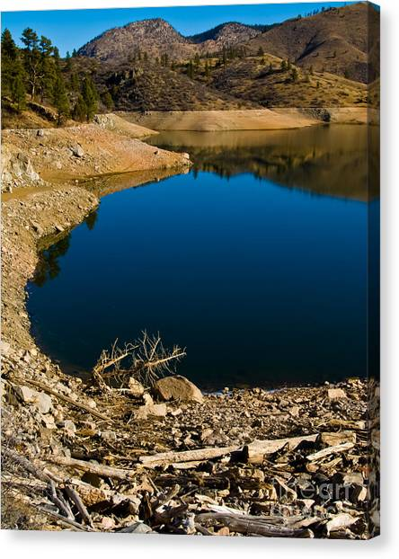 Summer At Seaman's Reservoir Canvas Print