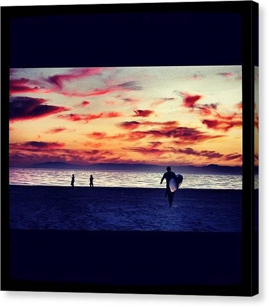 Beach Sunsets Canvas Print - #summer #california #newportbeach by Emilio Alfieri