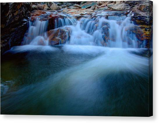 Uinta Canvas Print - Summer Cascade by Chad Dutson