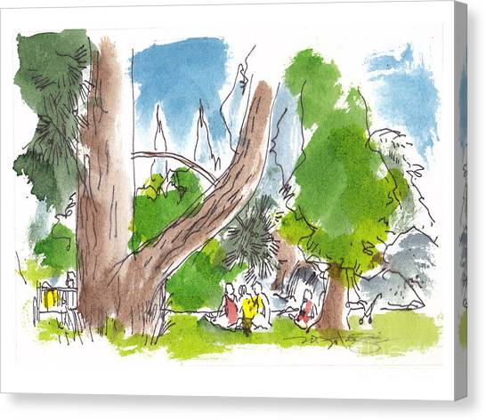 Summer In The Garden Canvas Print