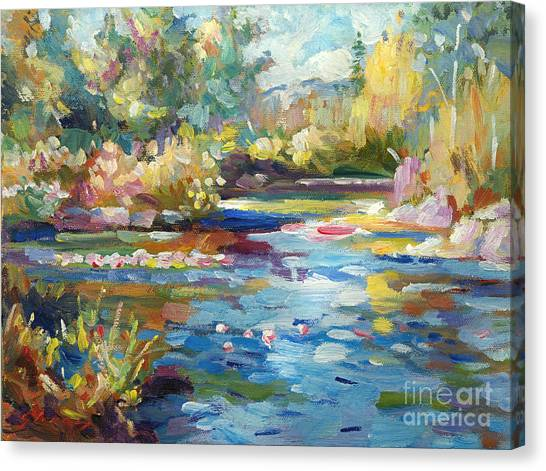 Summer Pond Canvas Print by David Lloyd Glover