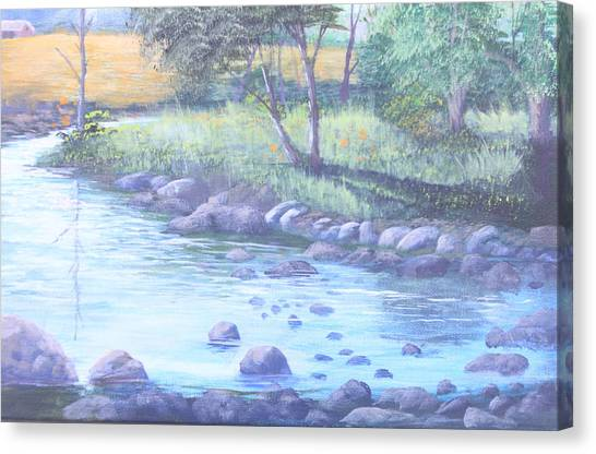 Summer River Canvas Print by Reggie Jaggers