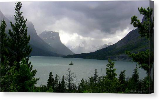 Summer Storm Over Wild Goose Island Canvas Print by Lani PVG   Richmond