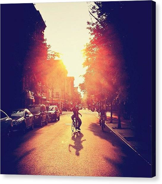 Times Square Canvas Print - Summer Sunlight - Lower East Side - New York City by Vivienne Gucwa