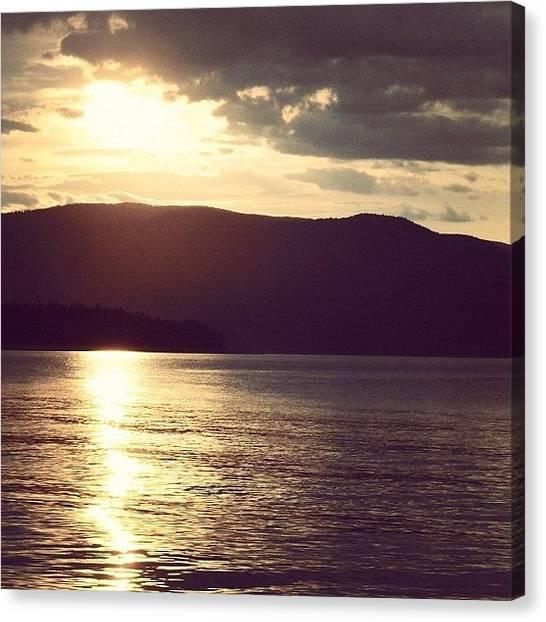 Lake Sunsets Canvas Print - #summer #sunset #lake #skyporn by Amanda Beattie
