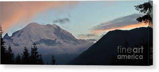 Summer Sunset On Mt. Rainier Canvas Print