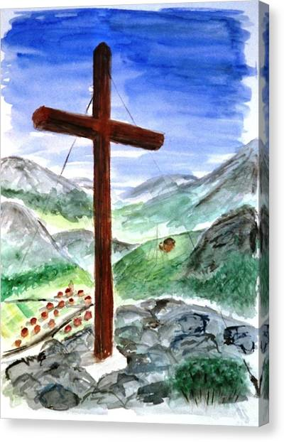 Summit Cross Canvas Print