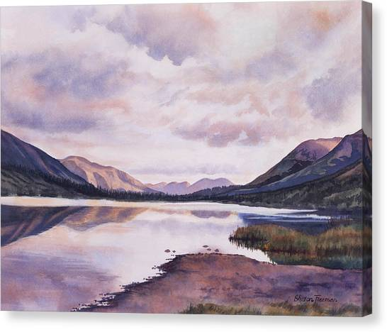 Cloud Forests Canvas Print - Summit Lake Evening Shadows by Sharon Freeman