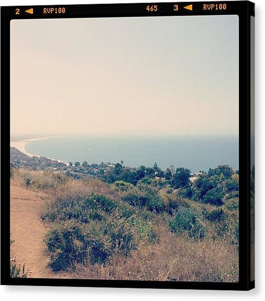 Santa Monica Canvas Print - Summit Of Los Liones Hiking Trail Pacific Palisades Ca by Lana Rushing