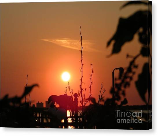 Sun Down Canvas Print by Laurence Oliver