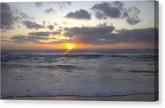 Sun Setting In Socal Canvas Print by Anthony Anderson