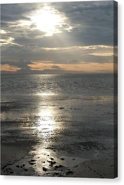 Sun Setting Over Spurn Point Canvas Print