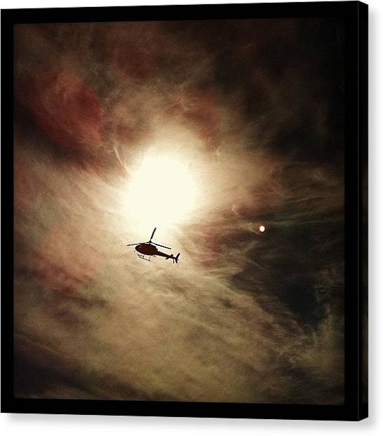 Helicopters Canvas Print - #sun #sky #helicopter #photoinstagram by Avatar Pics