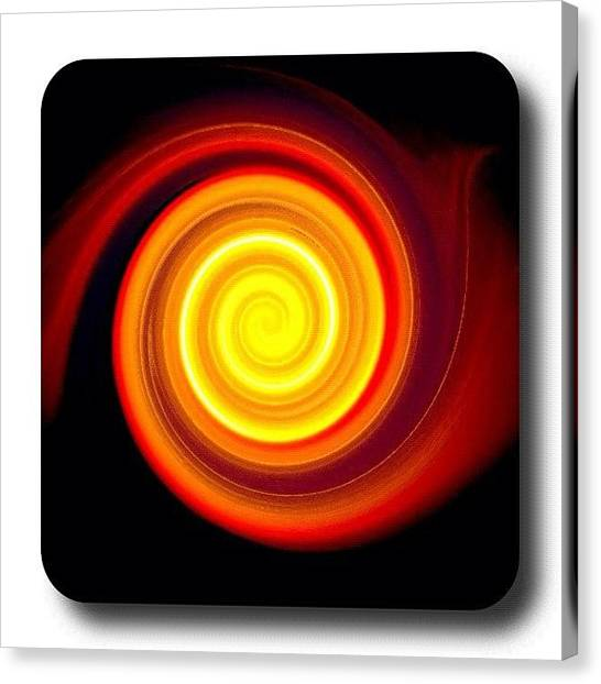 Spiral Canvas Print - Sun Spiral 🌀 #shithot #whatitis #sun by Rob Harris