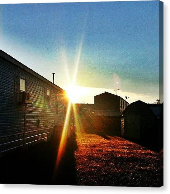 Minnesota Canvas Print - #sun #sunshine #sunrise #morning #awake by Victor Toscano