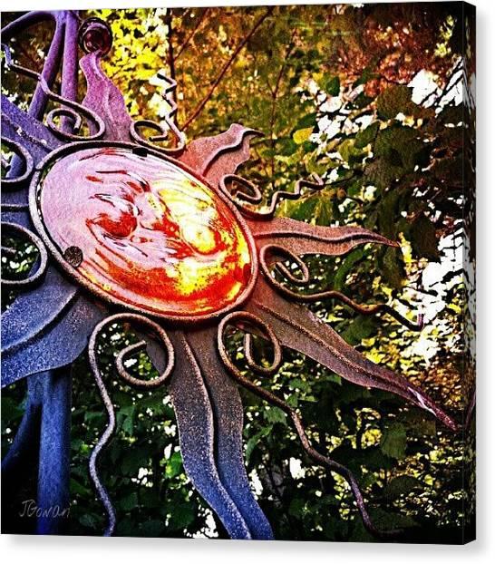 Colourful Canvas Print - Suncatcher II. #suncatcher #sun by Jess Gowan