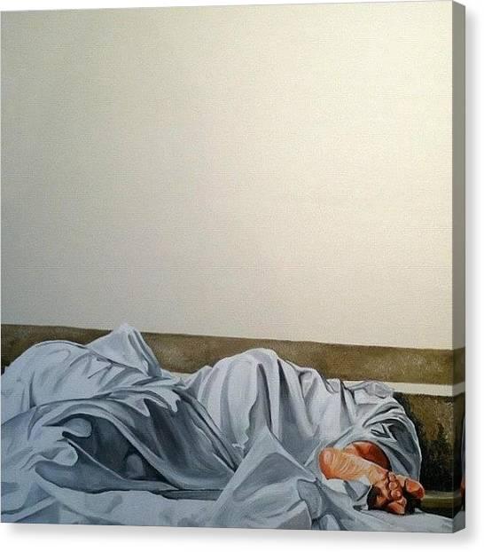 War Canvas Print - Sunday Morning  Serie Pies-feet-pieds by Art War
