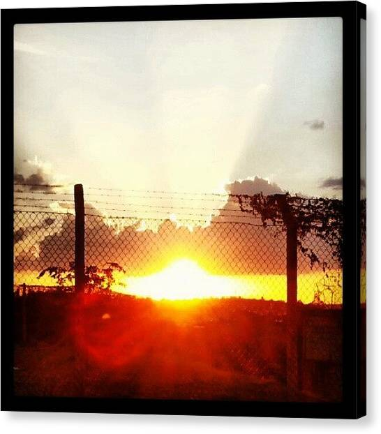 Fairy Canvas Print - Sunday... (: #sun #cloudscape #cute by Guilherme Freitas