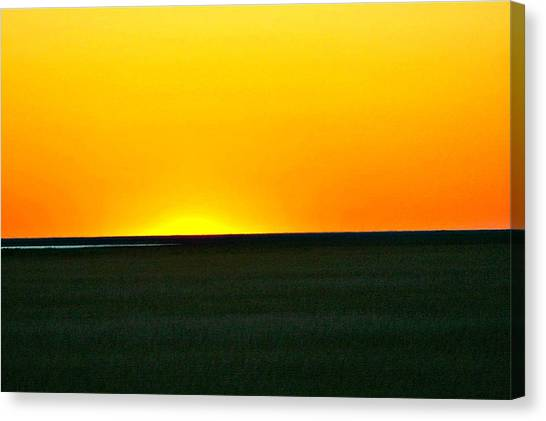 Sundown Canvas Print by Debbie Sikes