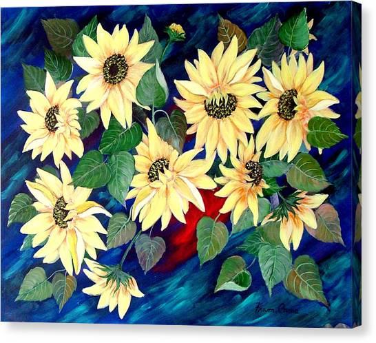 Sunflower Orgy Canvas Print