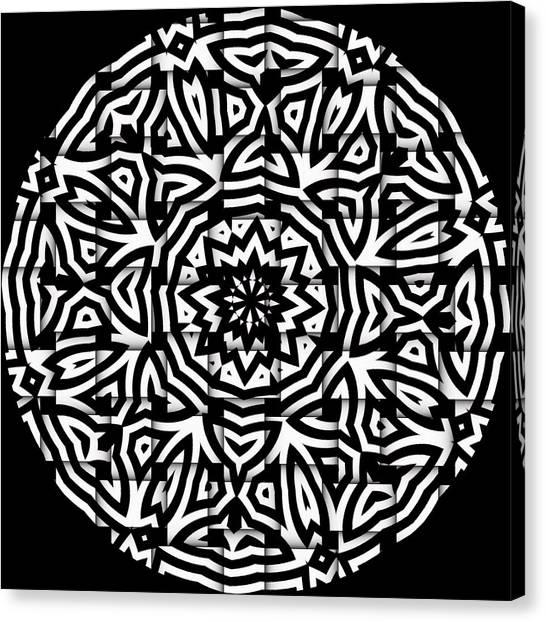Canvas Print featuring the digital art Sunflower by Visual Artist Frank Bonilla